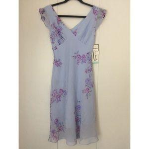Vintage Breakin' Loose NY Soft Lilac Dress sz 9/10